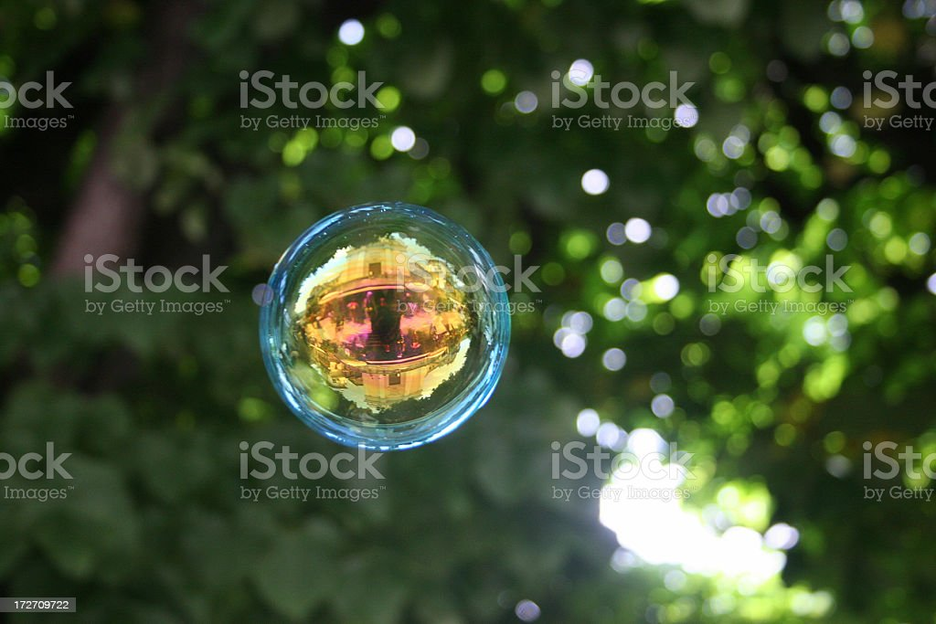 bubble reflections stock photo