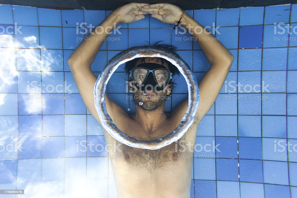 Bubble rings royalty-free stock photo