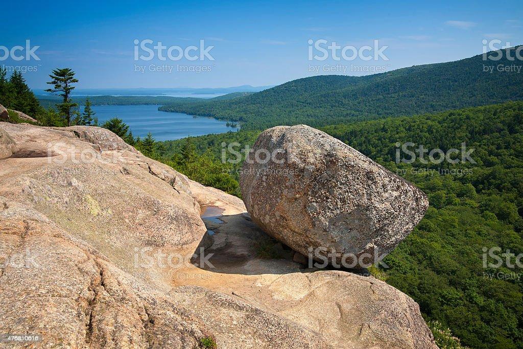 Pensamento Rock, Parque Nacional de Acadia foto royalty-free