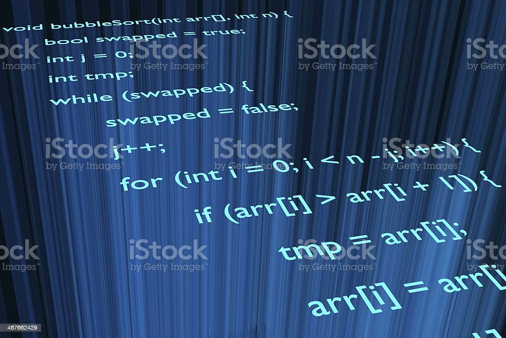 Bubble sort stock photo