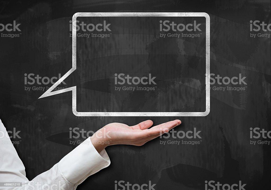 Bubble speech / Blackboard concept (Click for more) stock photo
