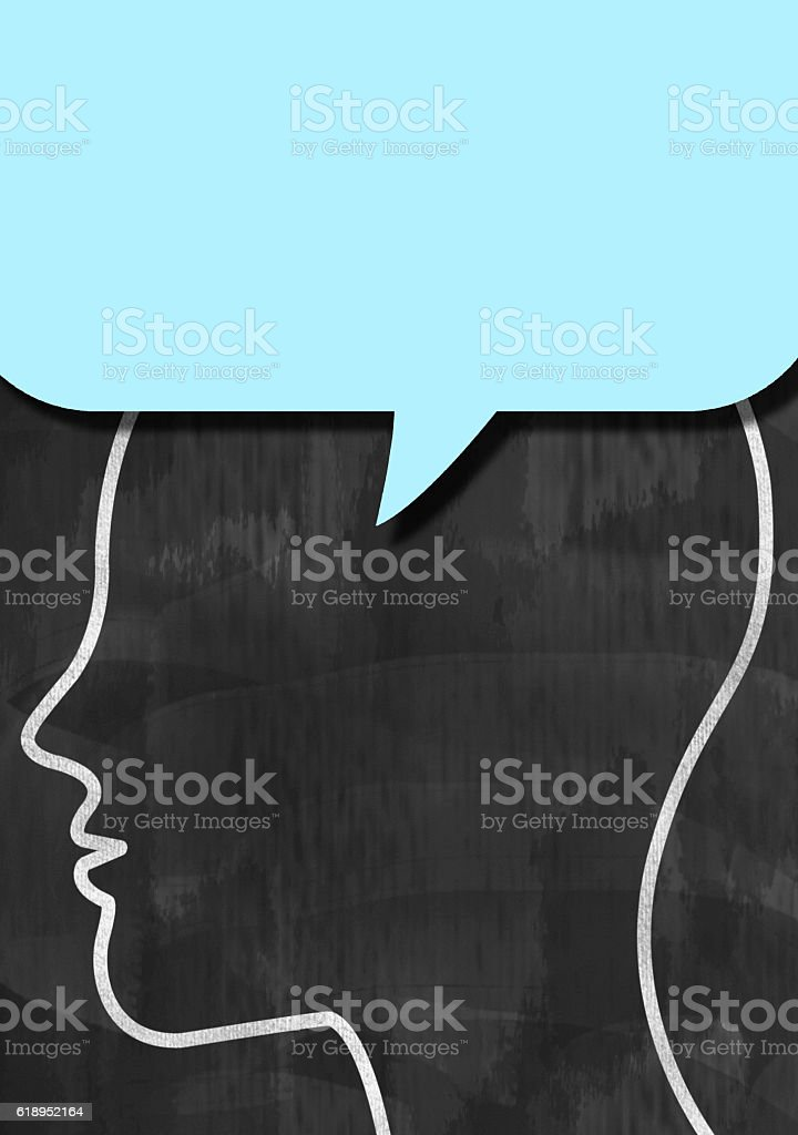 Bubble speech / Blackboard concept (Click for more) stock photo