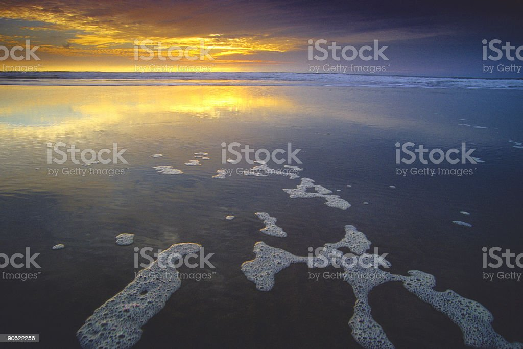 bubble sunset beach stock photo