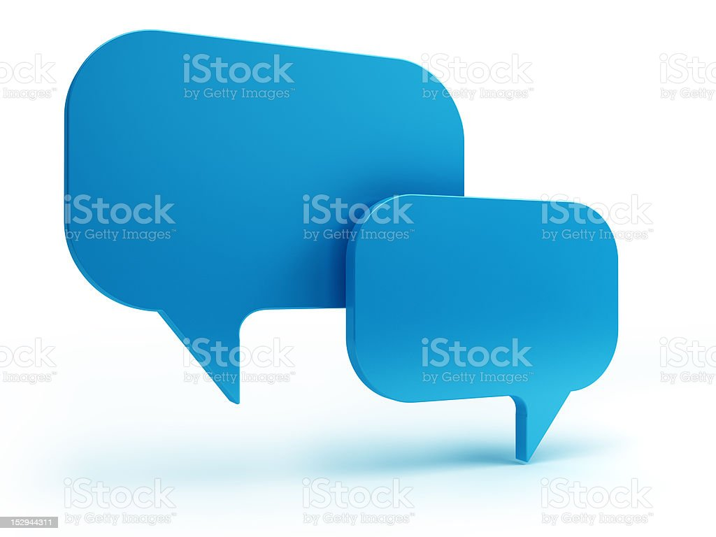 bubble talk royalty-free stock photo