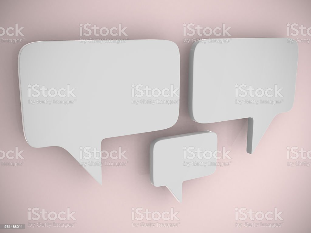 bubble talk - this is 3d render illustration stock photo
