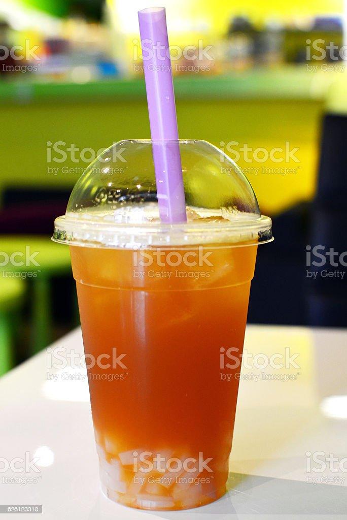 Bubble tea with Jellies stock photo