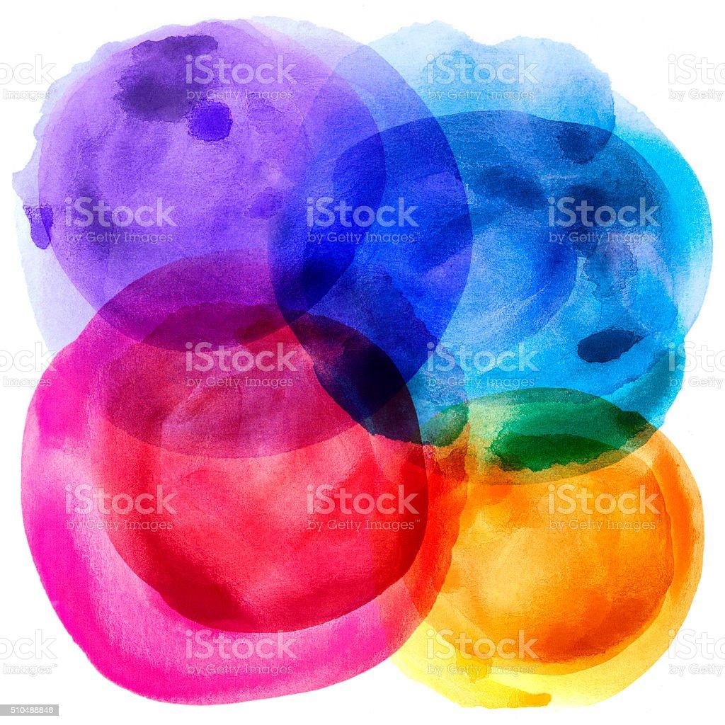 Bubble watercolor stock photo