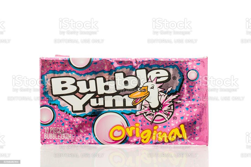 Bubble Yum Gum stock photo