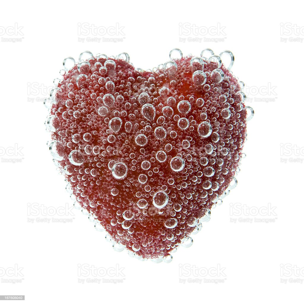 Bubbled under water heart royalty-free stock photo