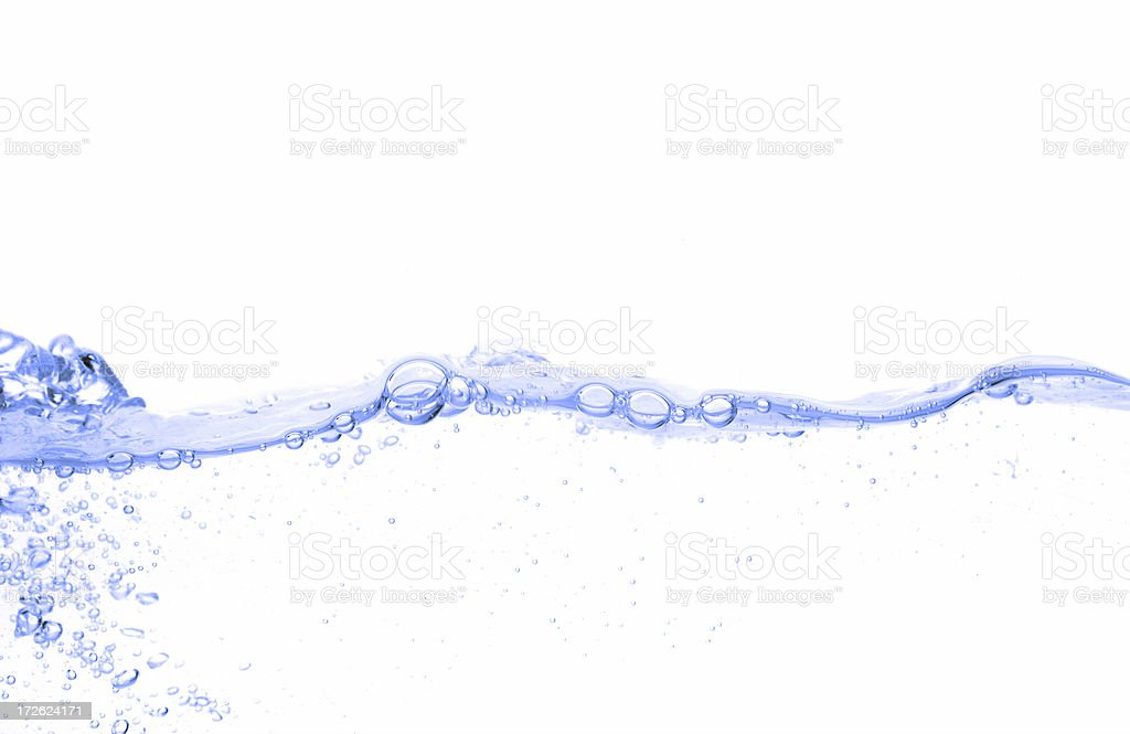 Bubbled Water stock photo