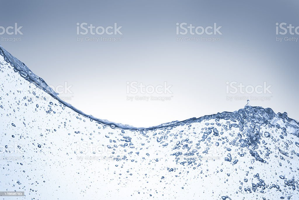 bubbles and drops royalty-free stock photo