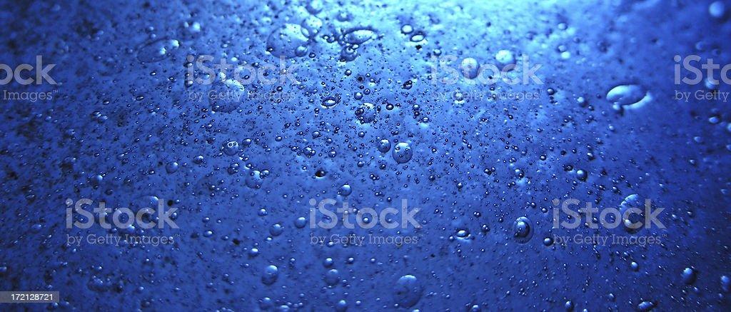 bubbles: blue Murano glass stock photo