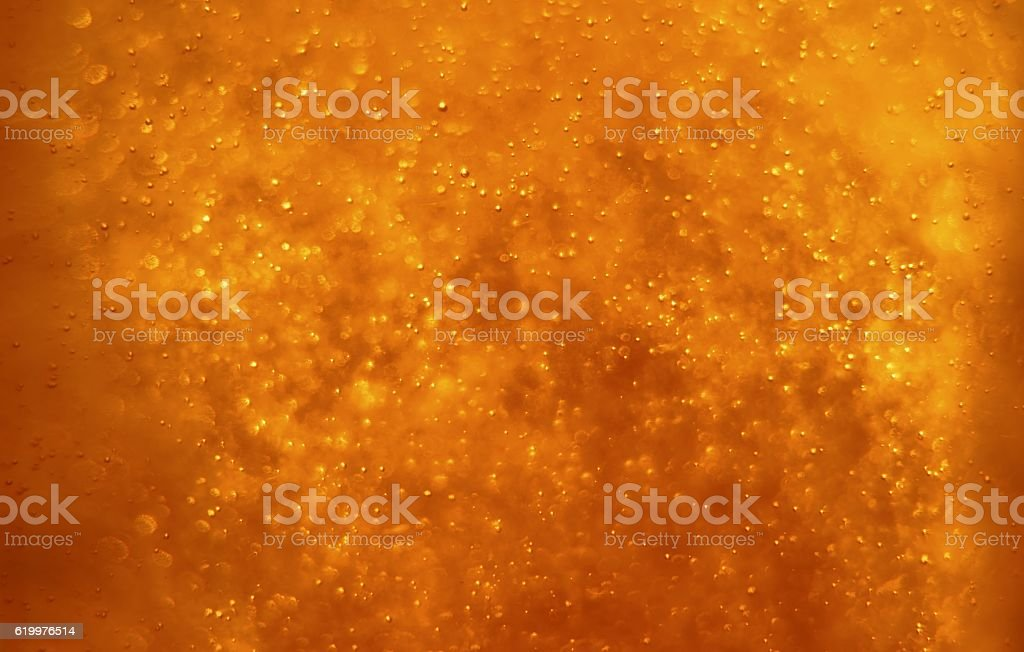 Bubbles floating in the liquid stock photo