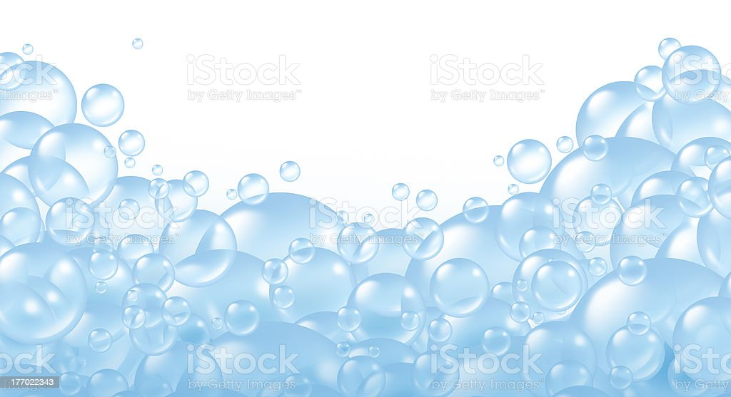 Bubbles foaming bath suds stock photo