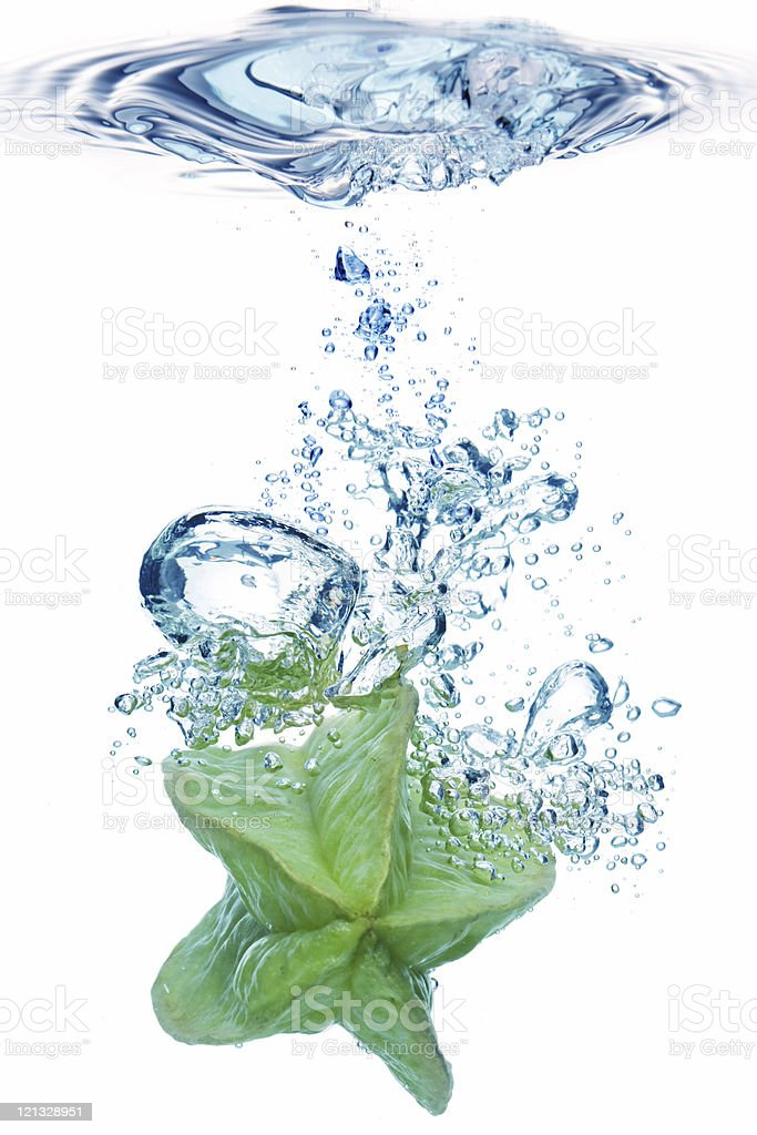 Bubbles in blue water royalty-free stock photo
