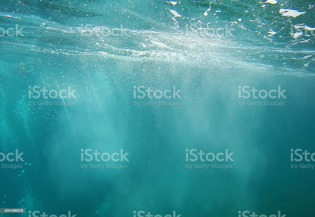 Bubbles In Blue Water stock photo