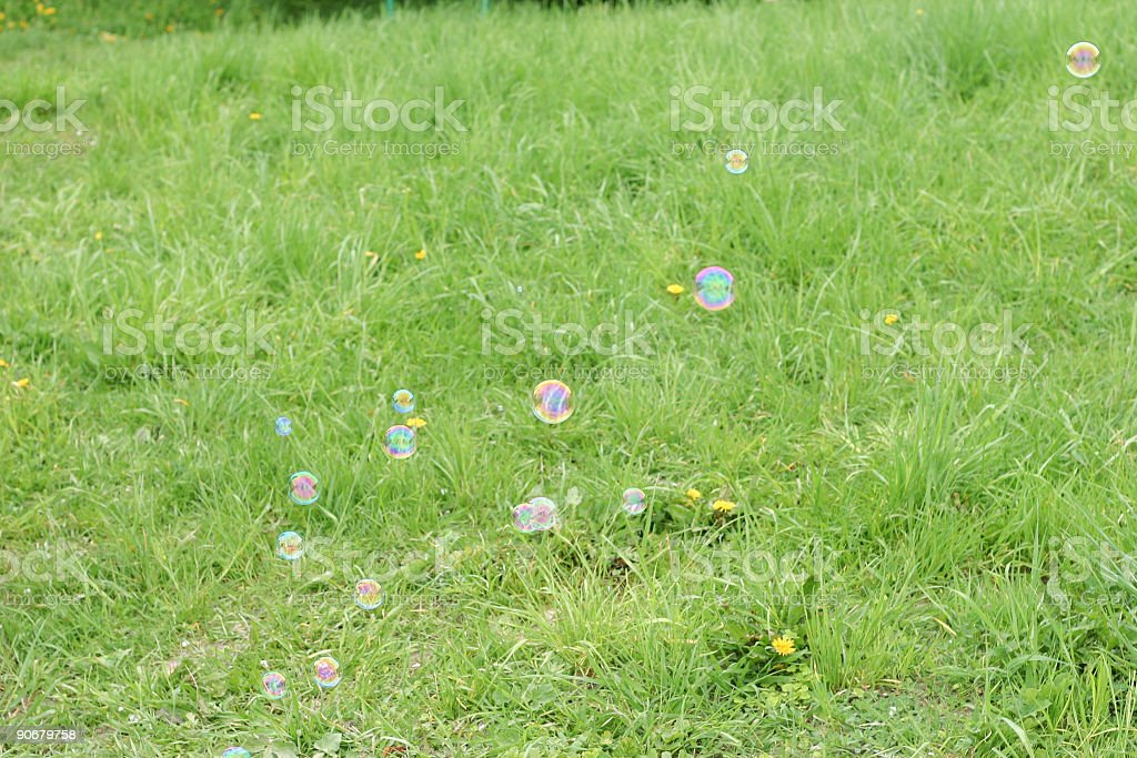 Bubbles in Spring royalty-free stock photo