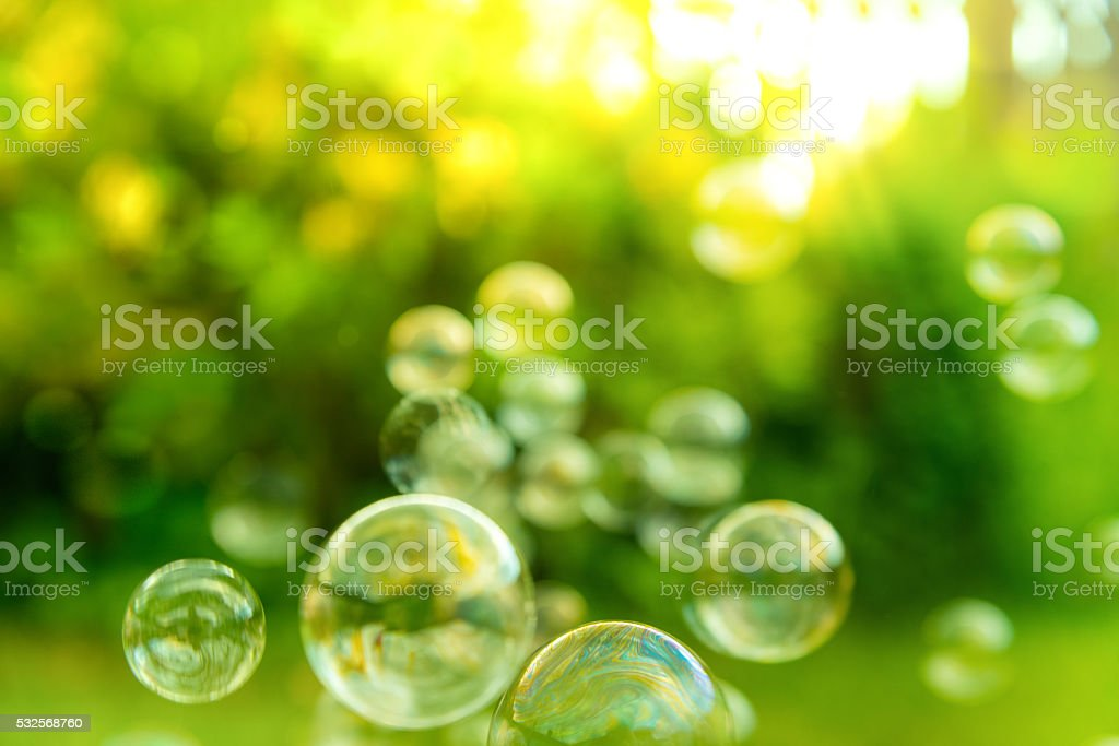 Bubbles in the air stock photo