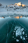 Bubbles in the Ice - Lago Bianco at Bernina Pass