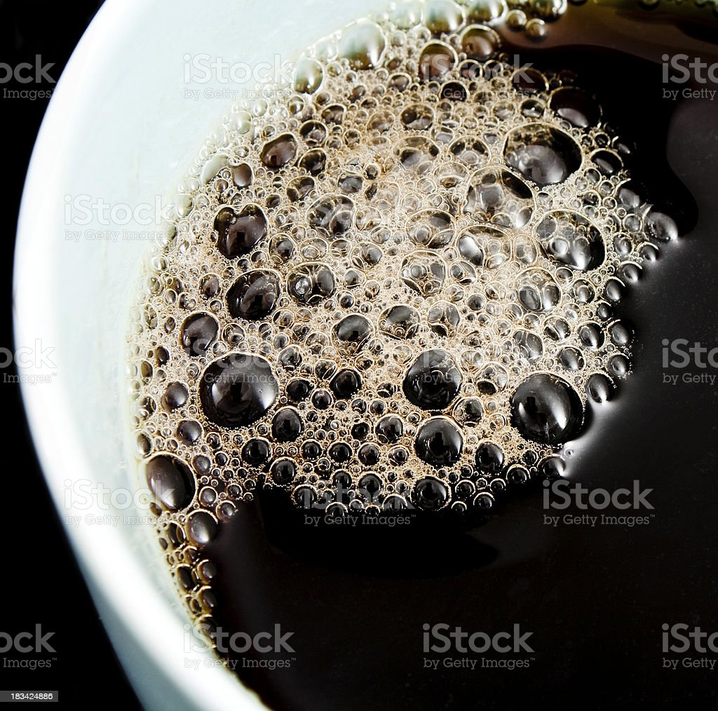 bubbles in the tea pot royalty-free stock photo