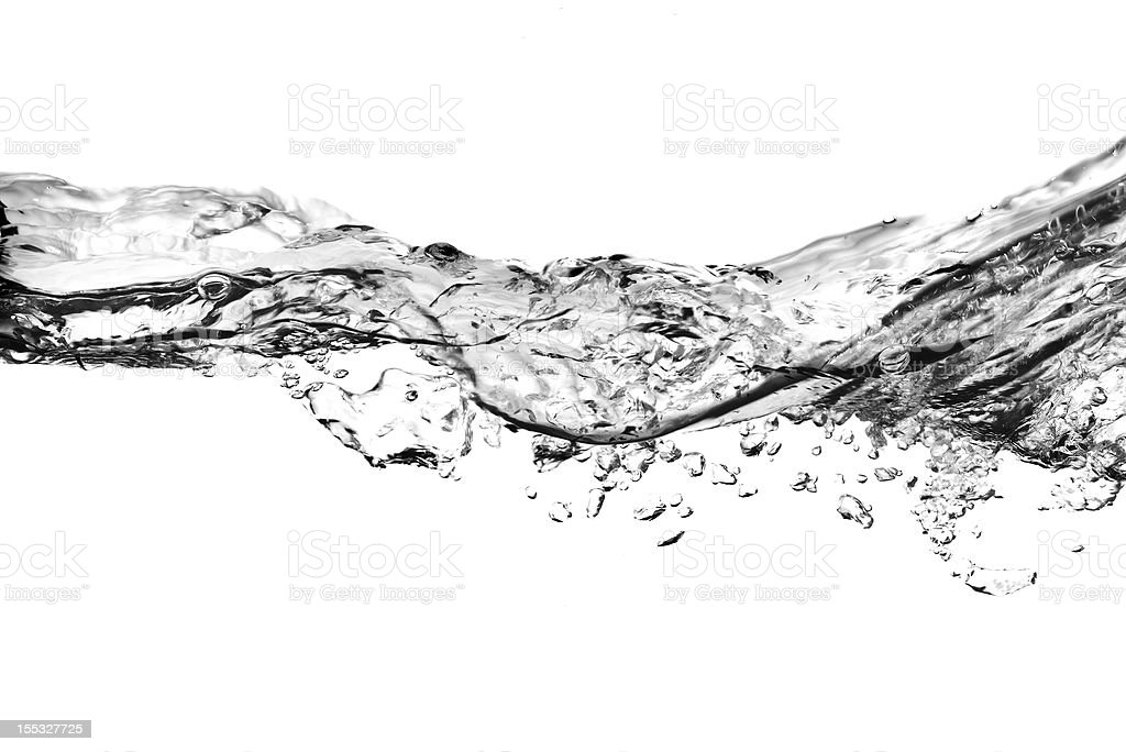 bubbles in water stock photo