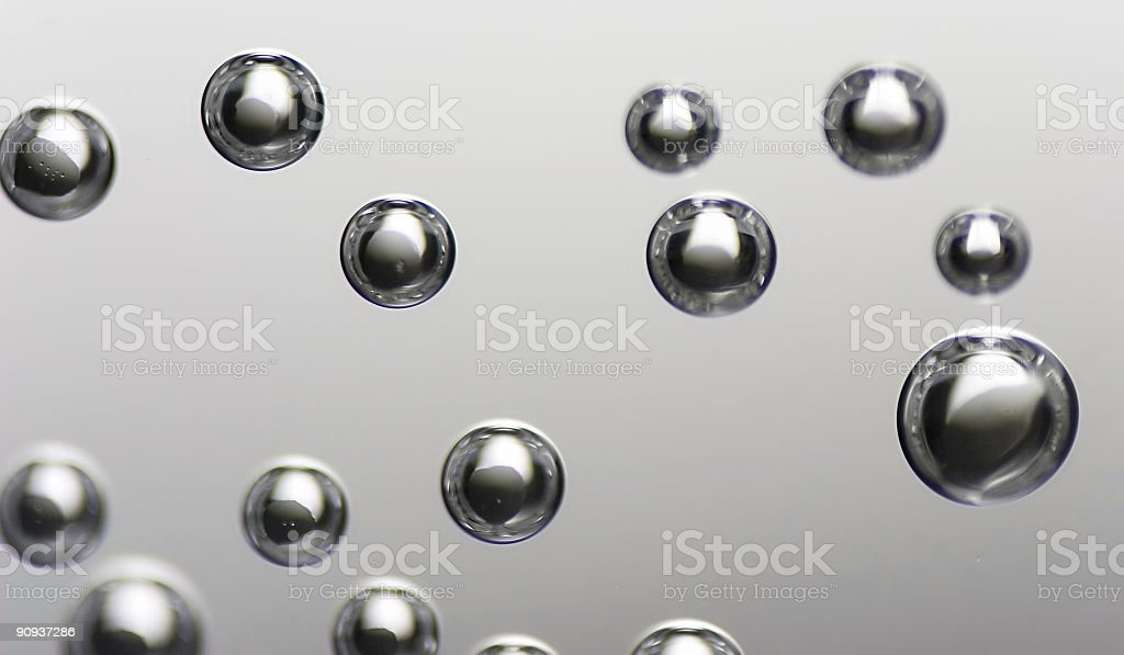 Bubbles in water royalty-free stock photo