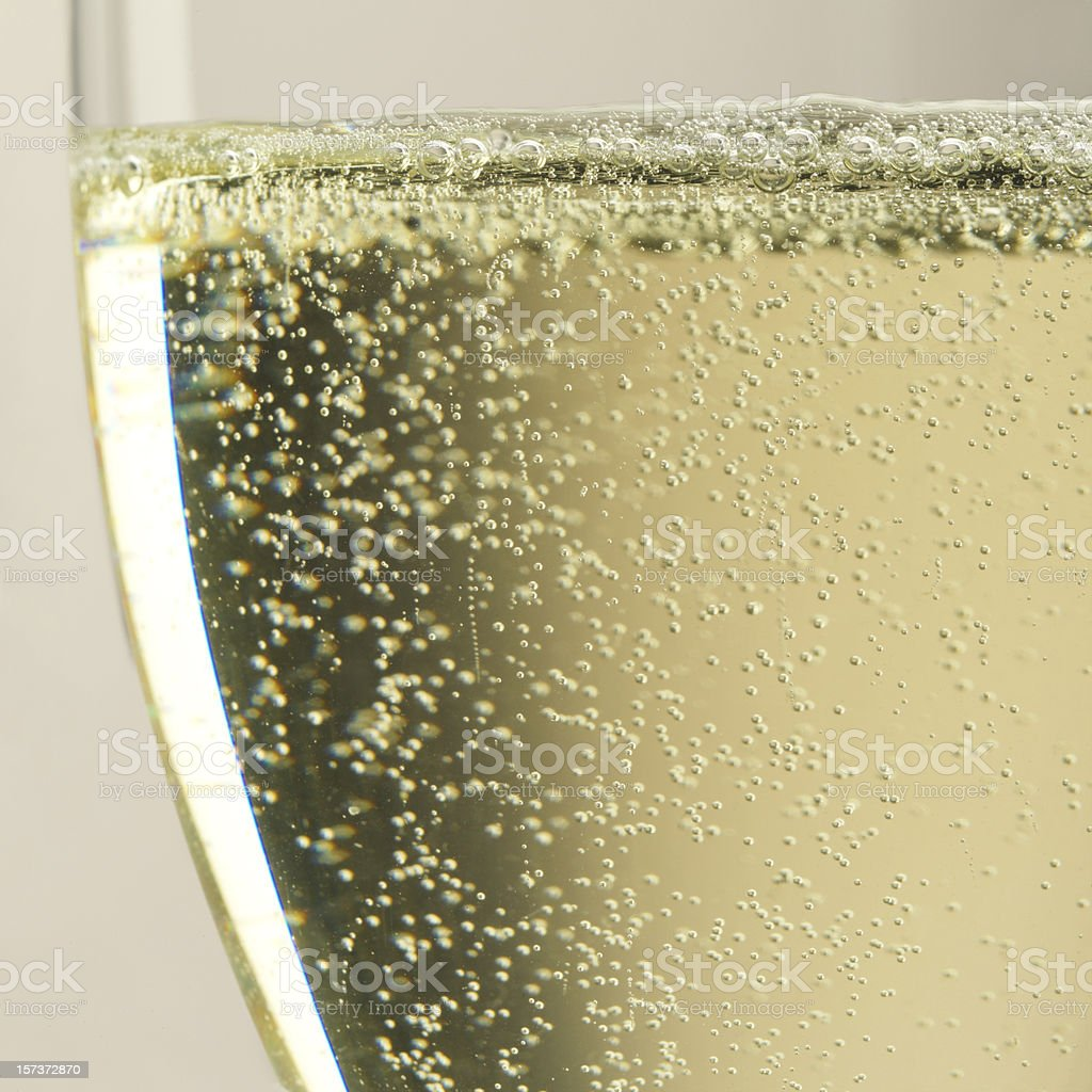 Bubbles of Champagne stock photo