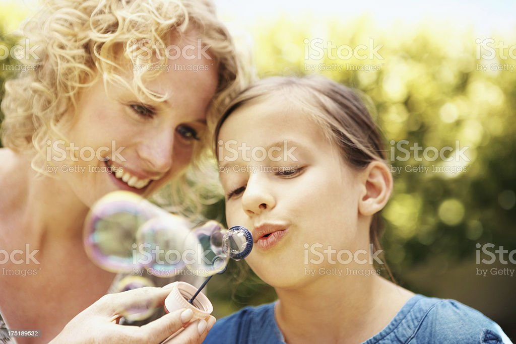 Bubbles of fun royalty-free stock photo