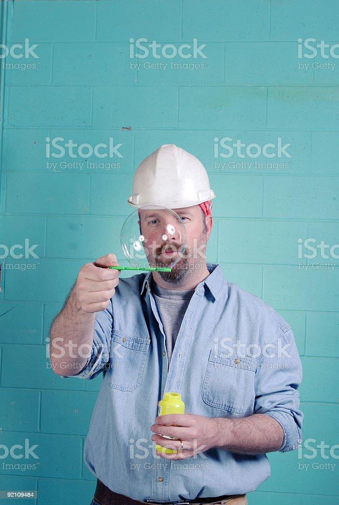 bubbles on the job 04 royalty-free stock photo