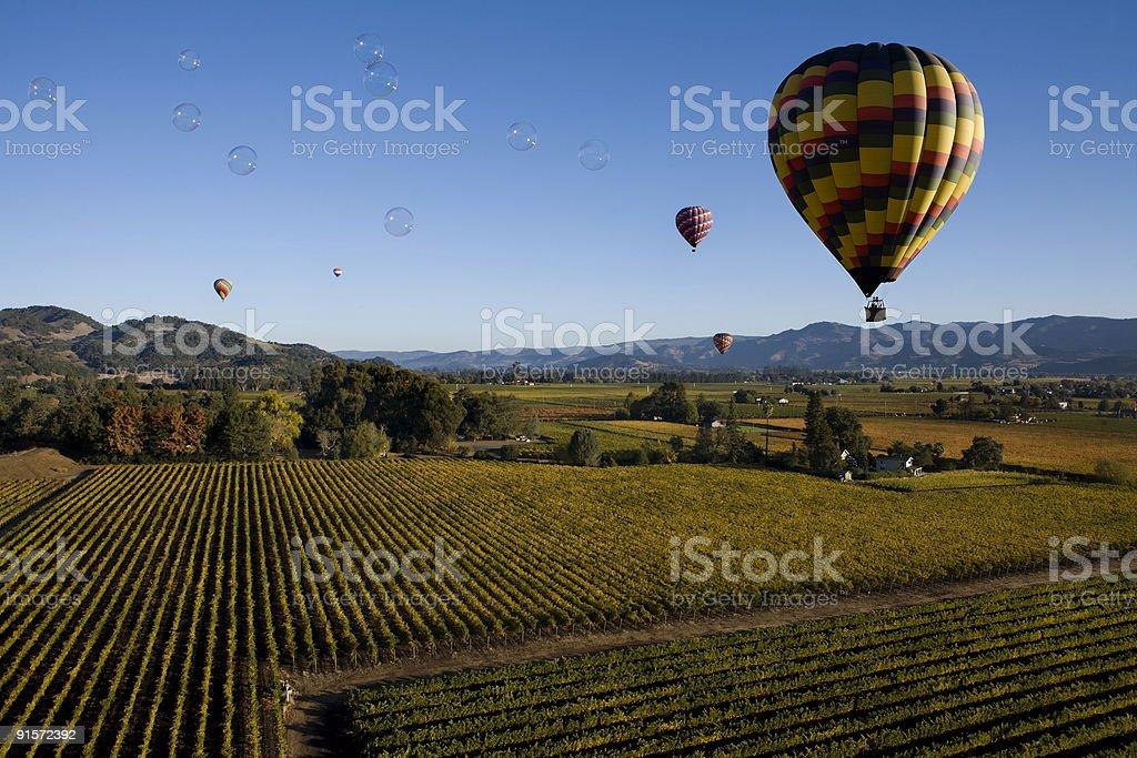 Bubbles over Napa royalty-free stock photo