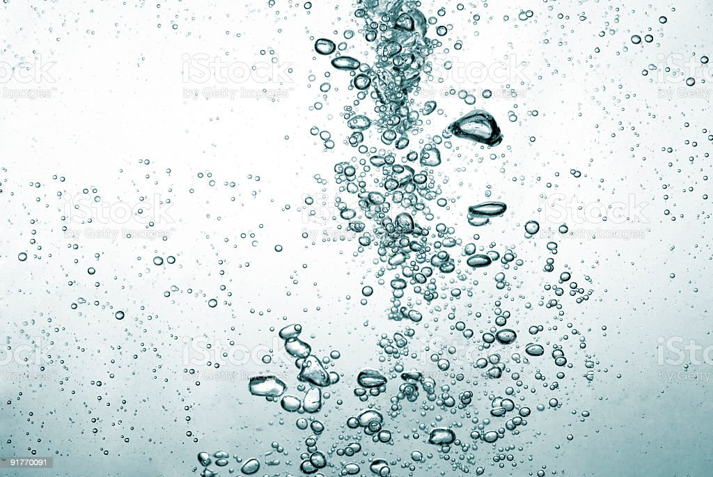 Bubbles Oxygen in Water royalty-free stock photo