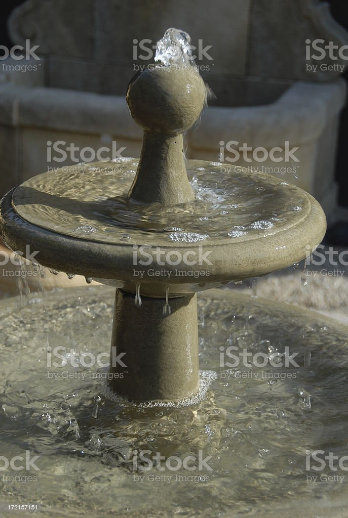 Bubbling Fountain royalty-free stock photo