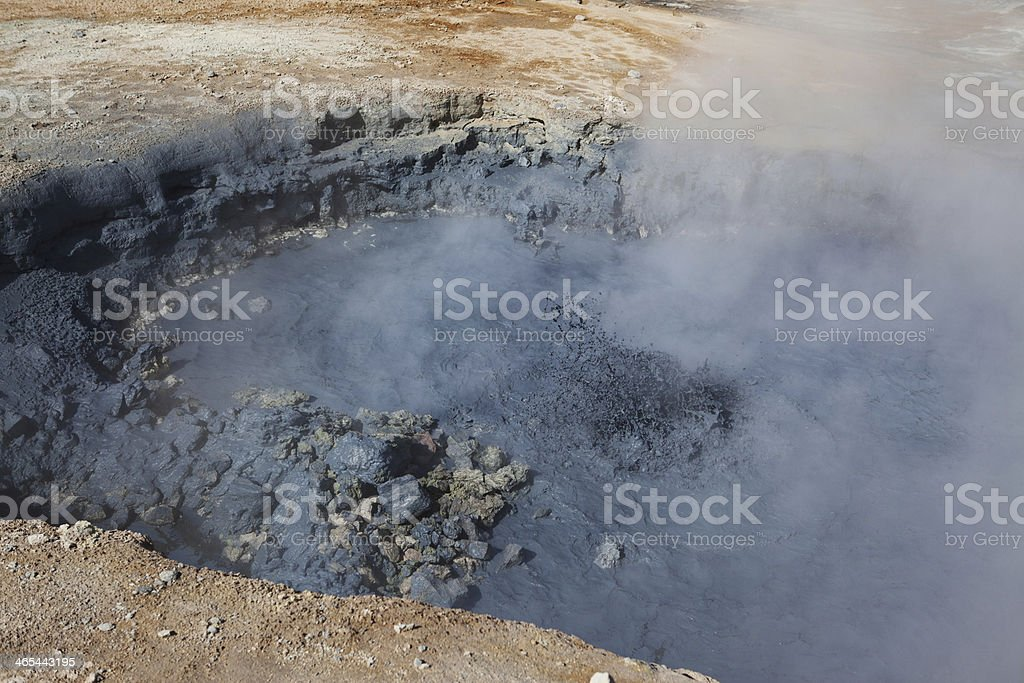 Bubbling Pools - Hverir Hot Springs, Iceland royalty-free stock photo