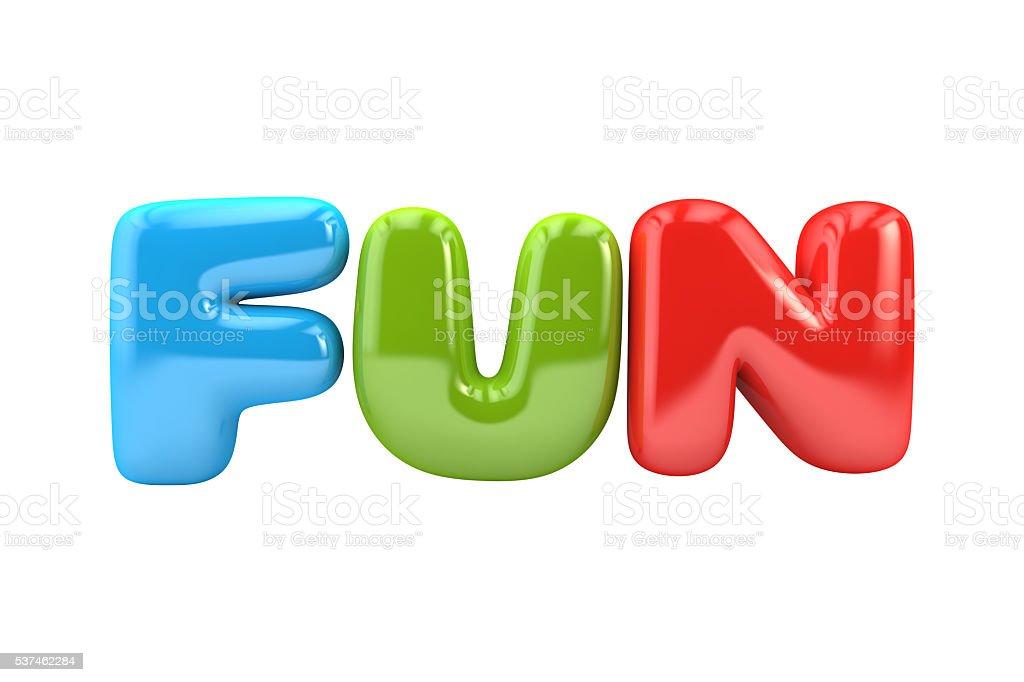 Bubbly fun word stock photo