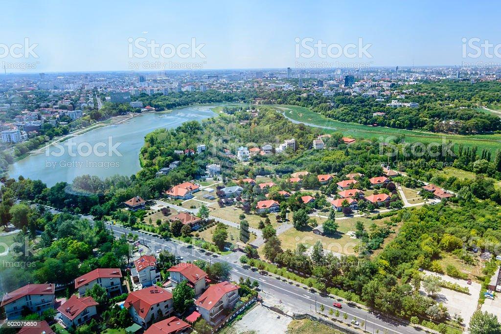 Bucharest, Romania - October 25, 2015: Bucharest North Side stock photo