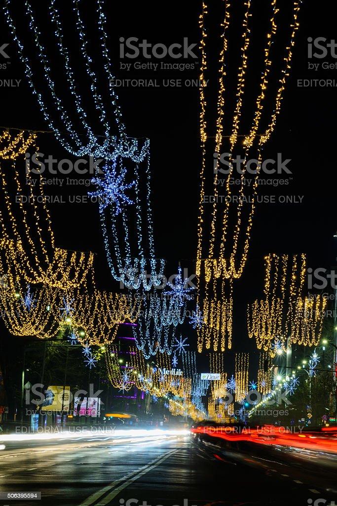 Bucharest, Romania – December 25: Magheru Bvd stock photo