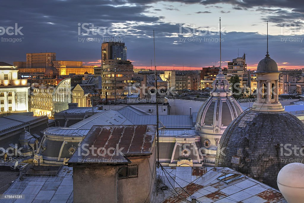 Bucharest skyline, Romania stock photo