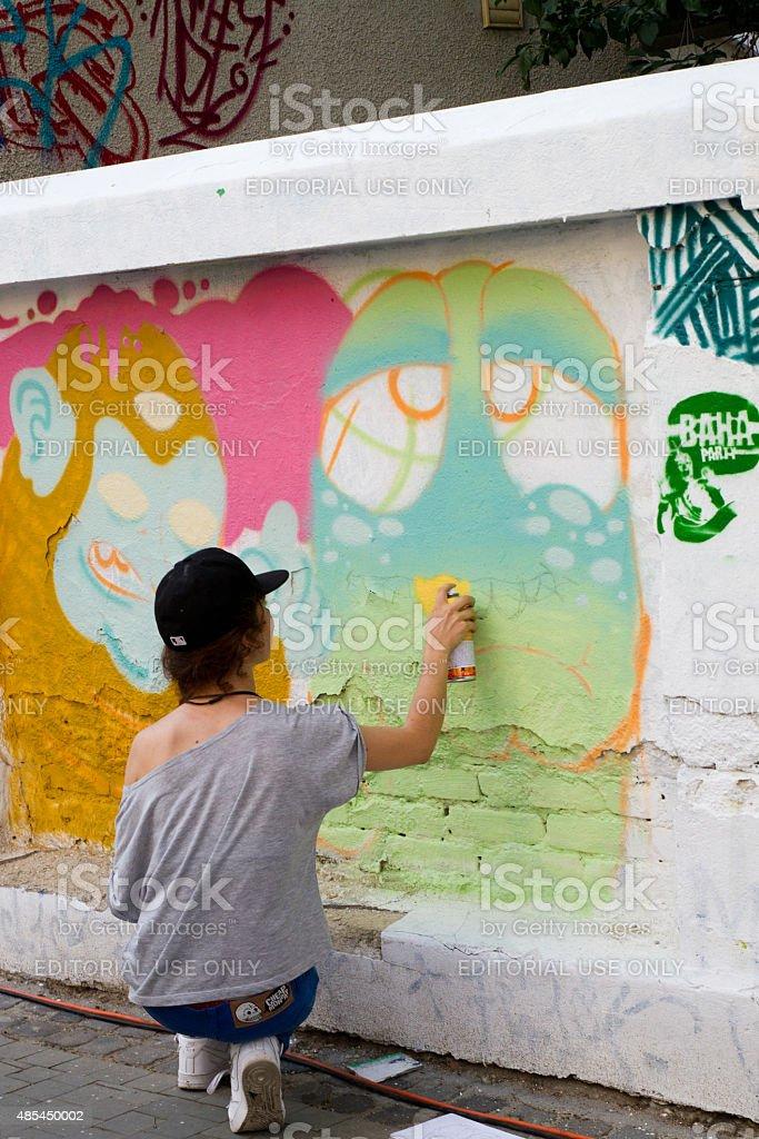 Bucharest Street Artists royalty-free stock photo