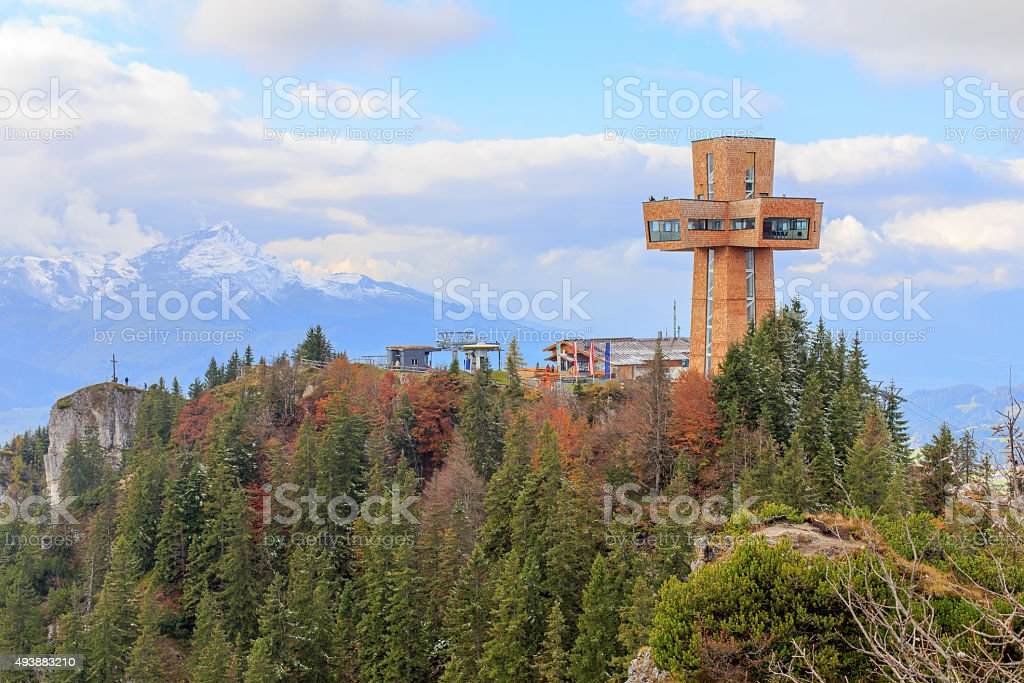Buchensteinwand with Jakobskreuz stock photo