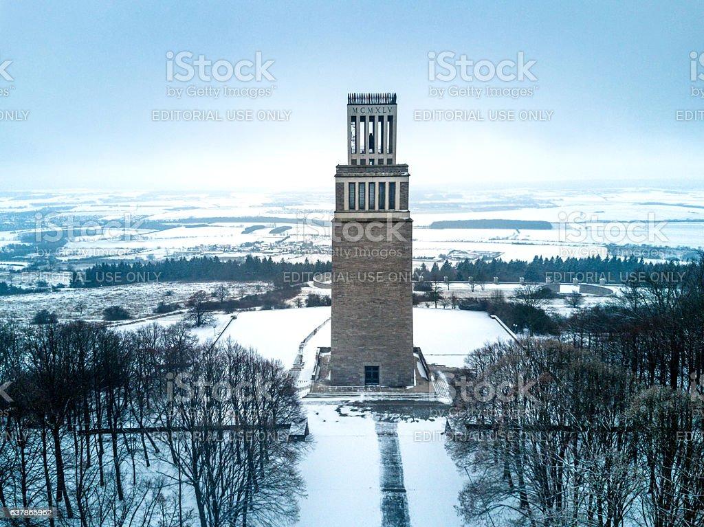 Buchenwald Memorial, bell tower, Ettersberg, Weimar, Thuringia, Germany, Europe stock photo