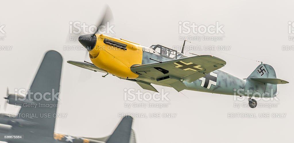 Buchon / Bf-109 German fighter aircraft stock photo