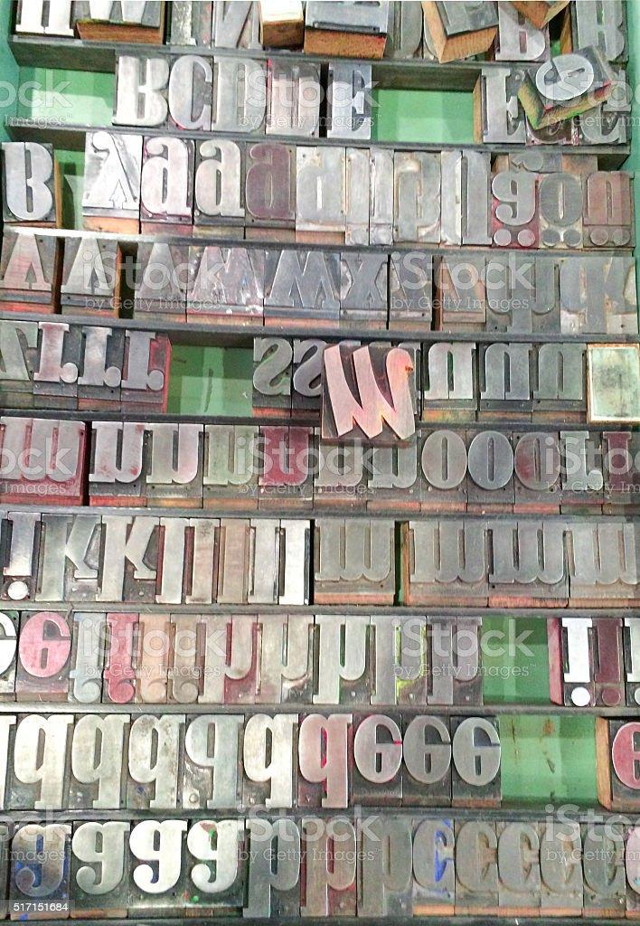 Buchstabenstempel stock photo