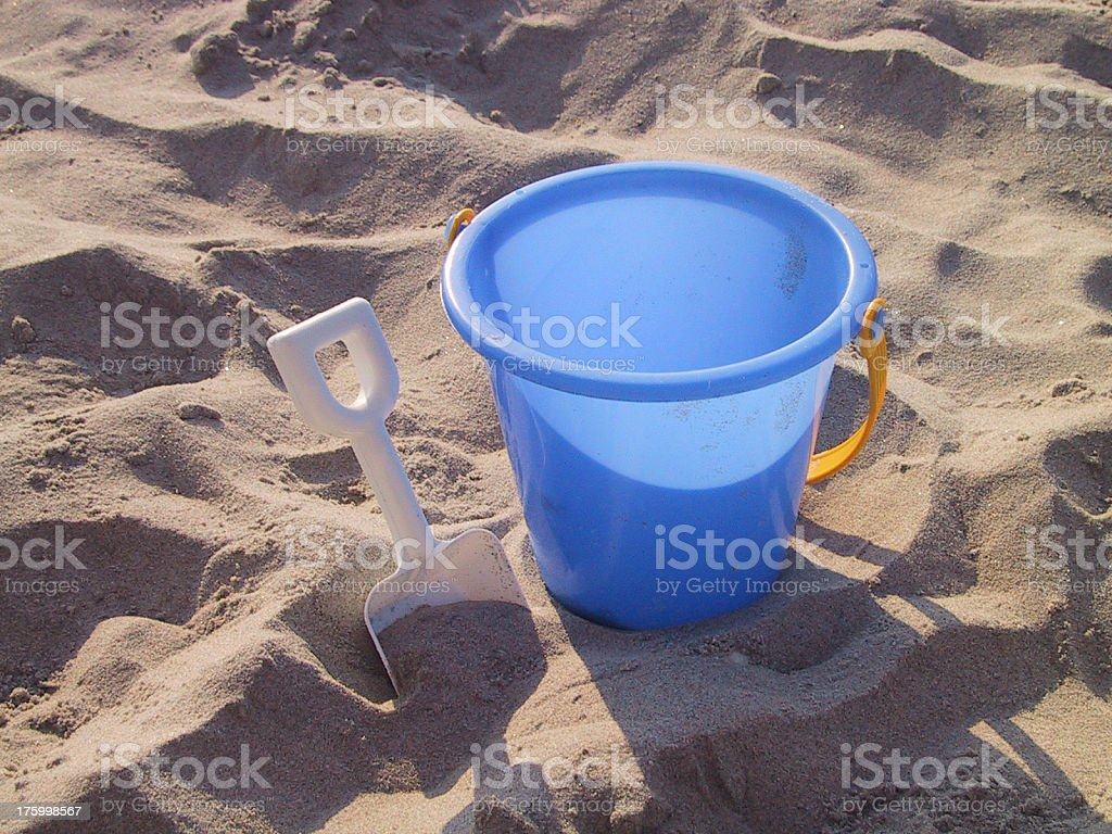 bucket and shovel stock photo