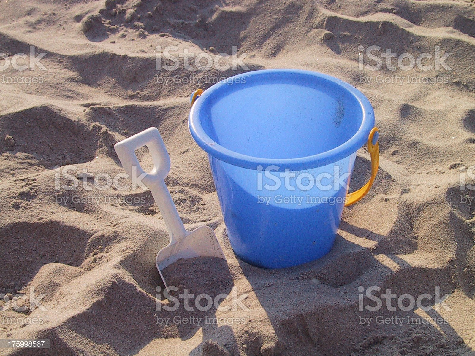 bucket and shovel royalty-free stock photo