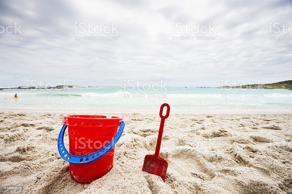 Bucket and spade royalty-free stock photo
