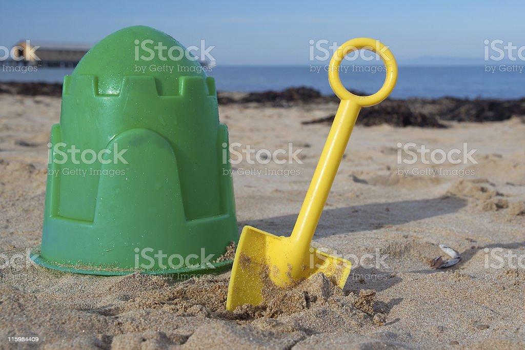 Bucket and spade royalty-free stock photo