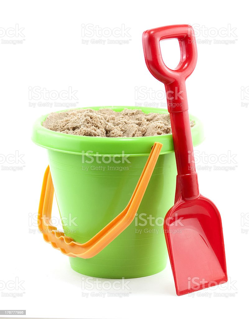 bucket and spade stock photo
