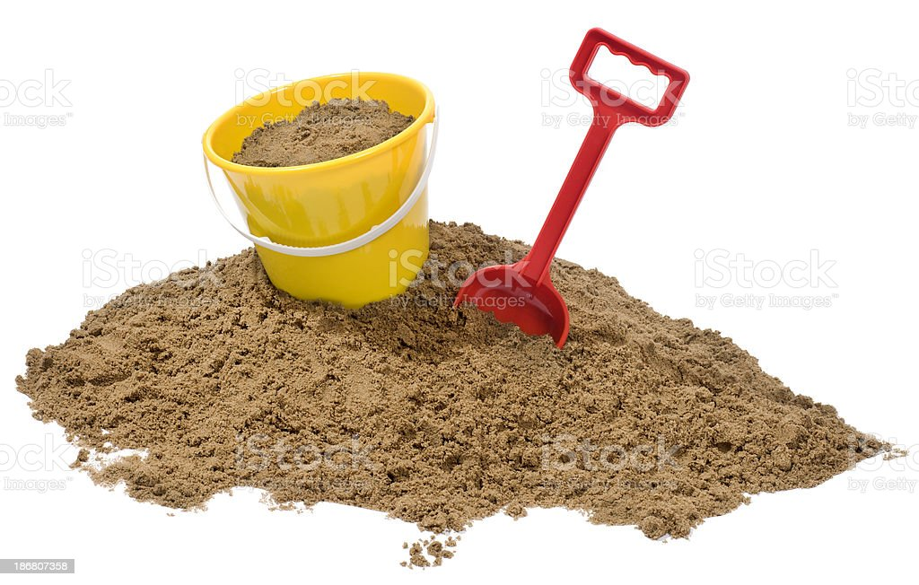 Bucket and Spade stock photo