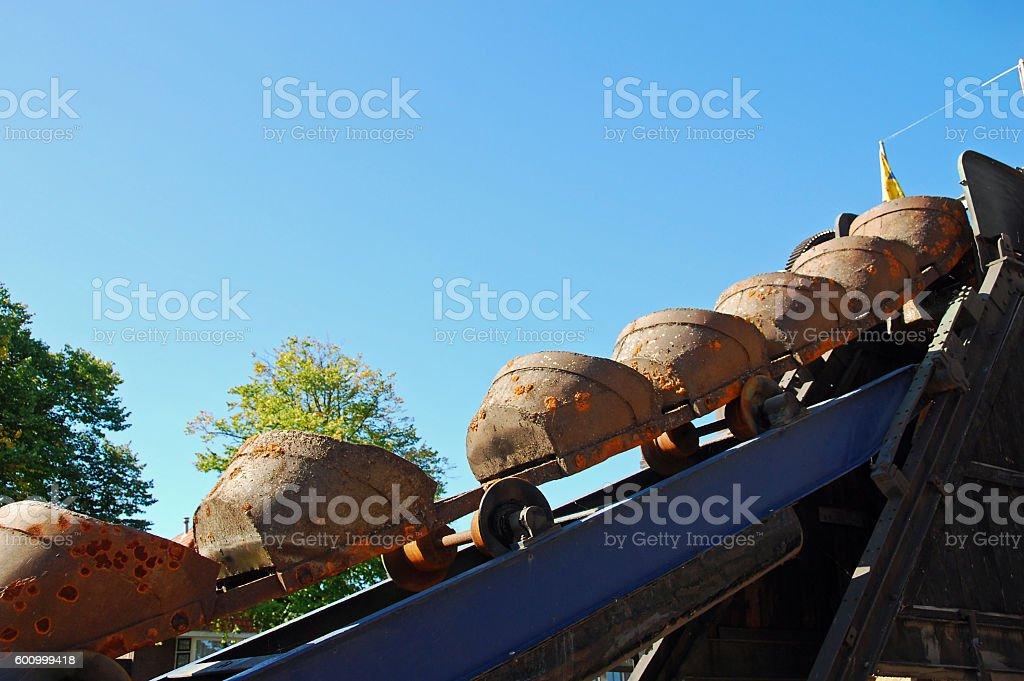Bucket Dredge Industry. stock photo