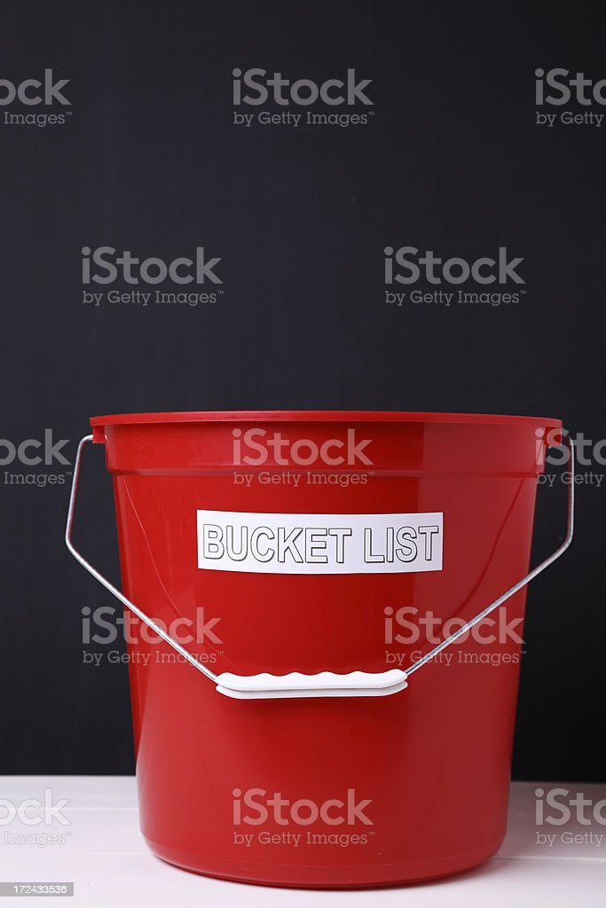 Bucket List royalty-free stock photo
